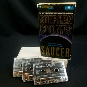 """BOOK ON AUDIO CASSETTES """"SAUCER"""" BY STEPHEN COONTS"""